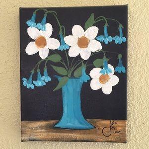 Originsl floral canvas painting